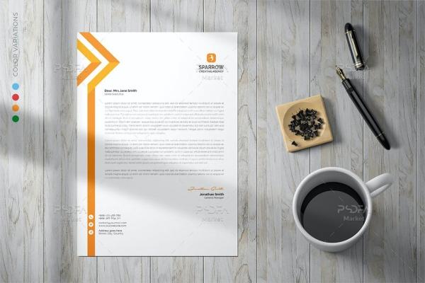 قالب لایه باز سربرگ اداری و شرکتی PSD