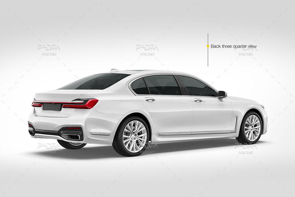 موکاپ ماشین و اتومبیل سدان شیک و لاکچری BMW