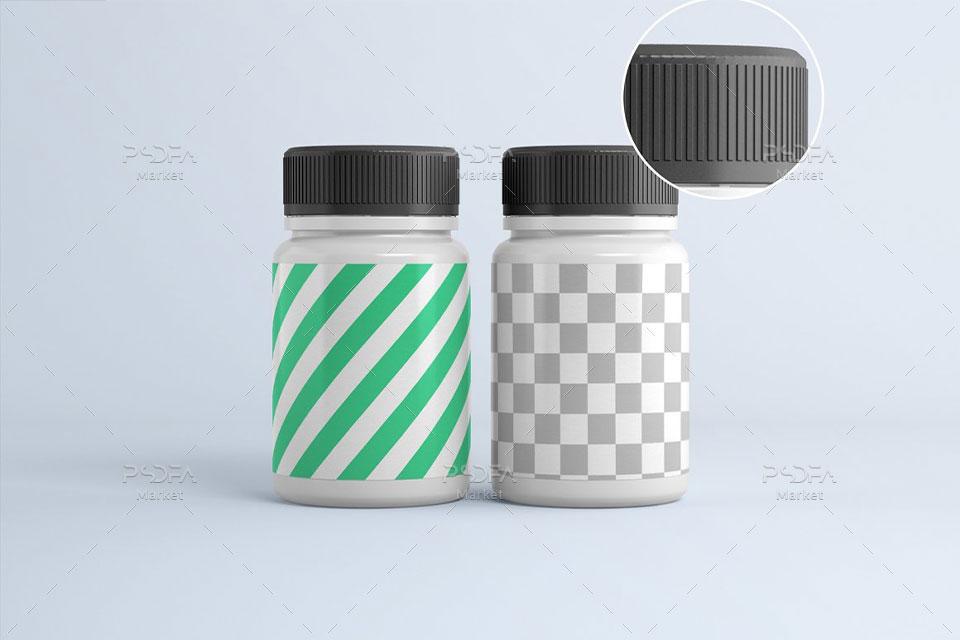موکاپ قوطی قرص و دارو پلاستیکی پزشکی