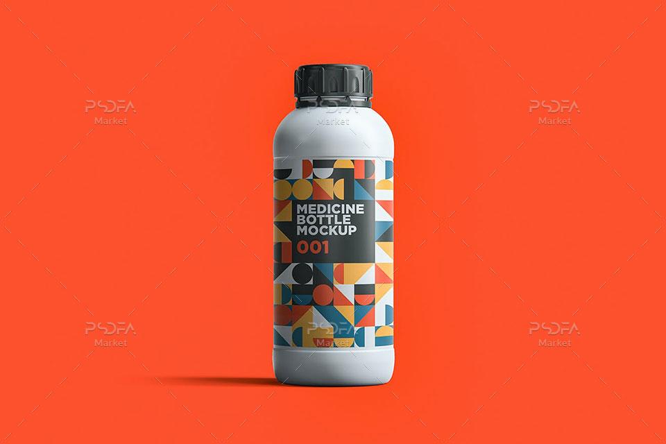 موکاپ بطری دارو پلاستیکی