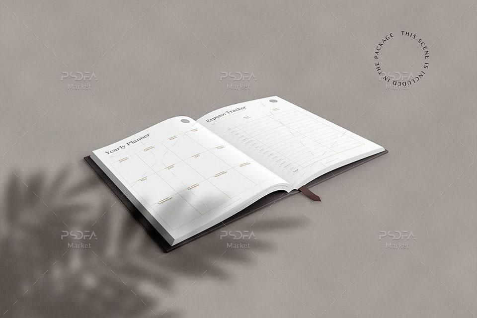 موکاپ دفترچه یادداشت مینیمال