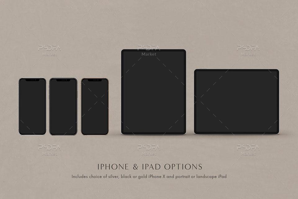 قالب آماده ساخت موکاپ دیوایسهای اپل
