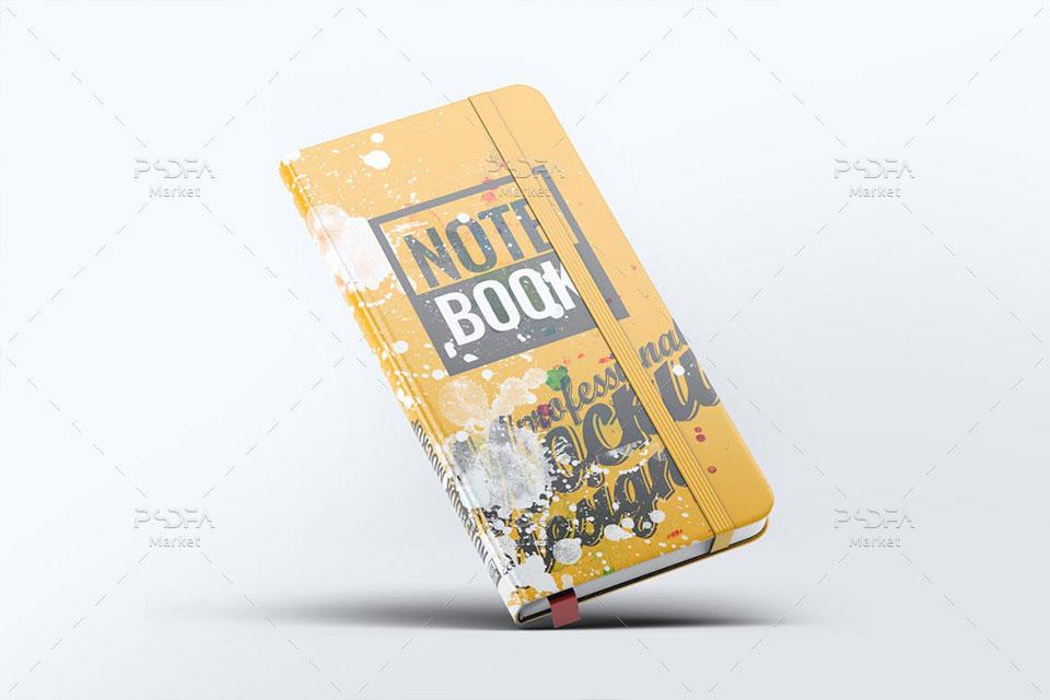 موکاپ دفترچه یادداشت گوشه گرد