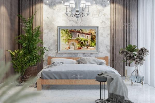 موکاپ قاب عکس مستطیل چوبی