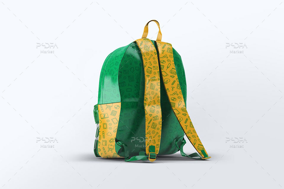 موکاپ کیف مدرسه و دانش آموز