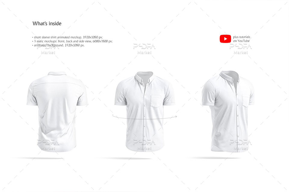 موکاپ پیراهن آستین کوتاه مردانه