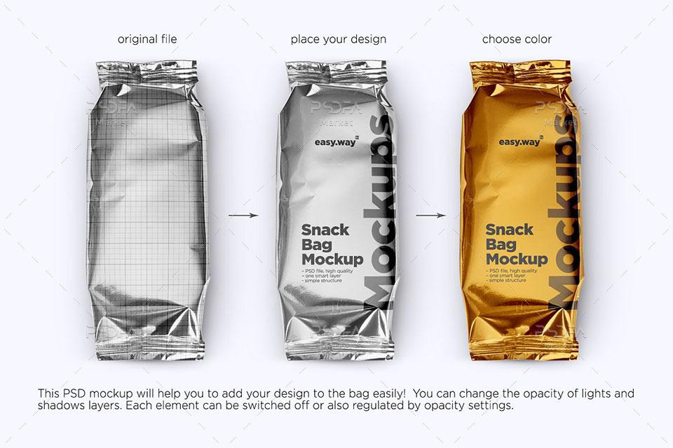 موکاپ بسته بندی شکلات و تنقلات