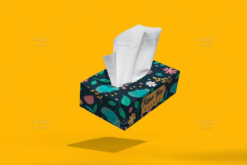 موکاپ جعبه دستمال کاغذی