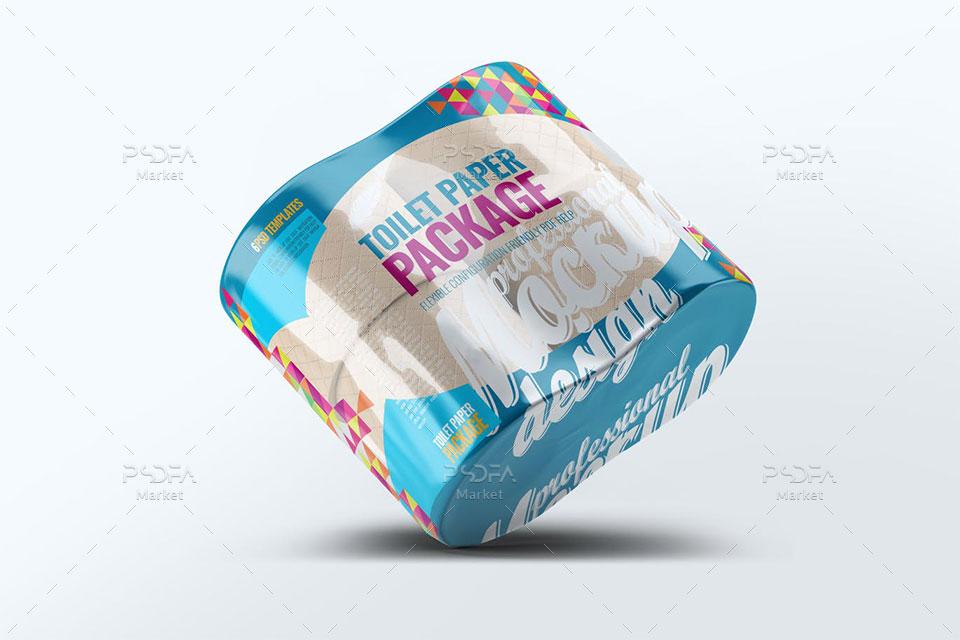 موکاپ بسته بندی دستمال توالت