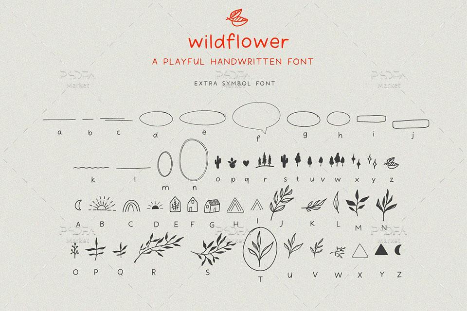 فونت دستنویس و تحریری انگلیسی Wildflower