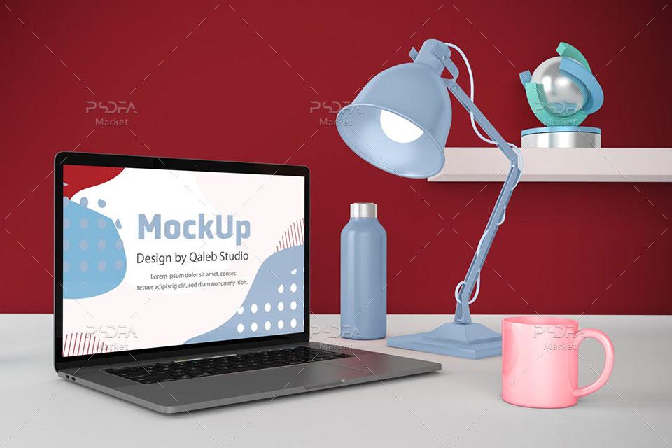 موکاپ لپ تاپ مک بوک