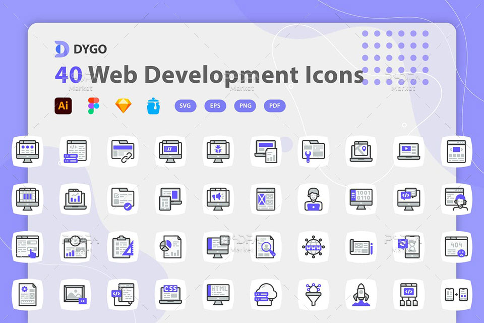 آیکون توسعه و طراحی وب