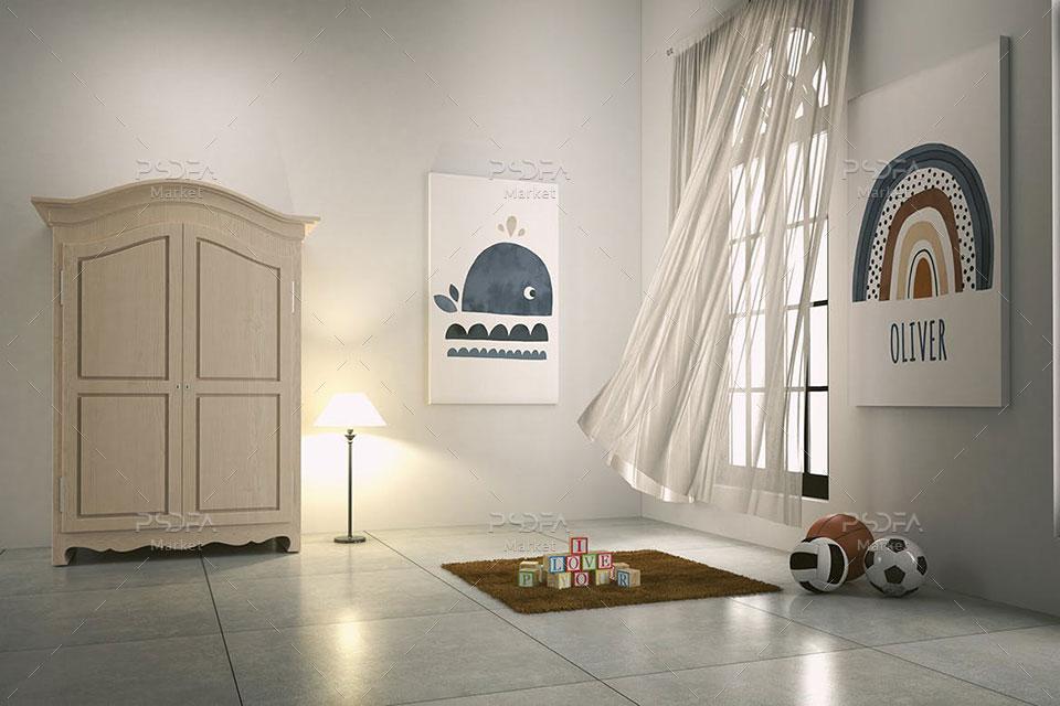 موکاپ قاب عکس و پوستر اتاق کودک