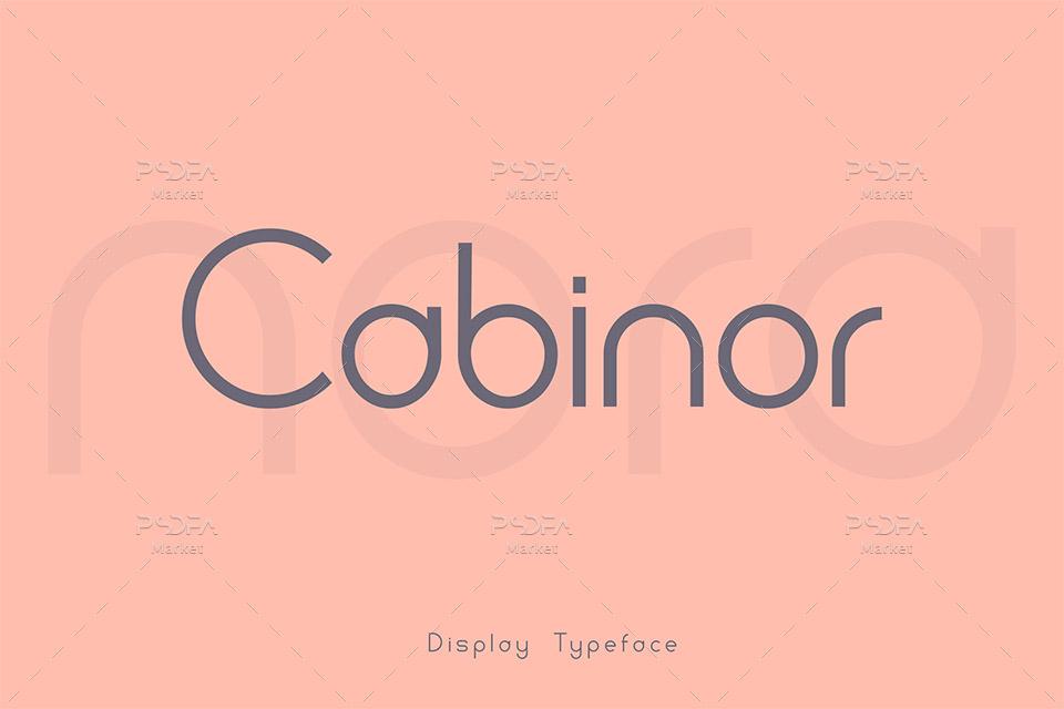 فونت انگلیسی نمایشی و مدرن Cabinor