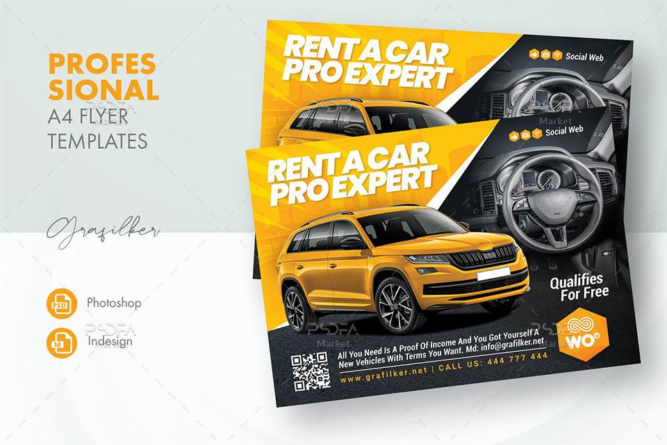 طرح لایه باز تراکت فروش خودرو