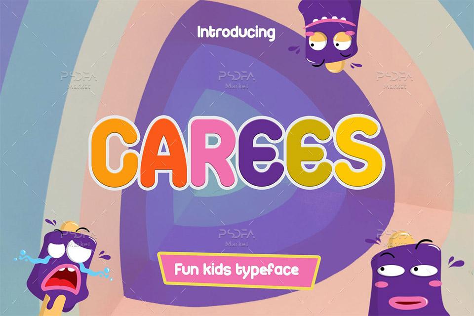 فونت کودکانه و کارتونی گیم Carees