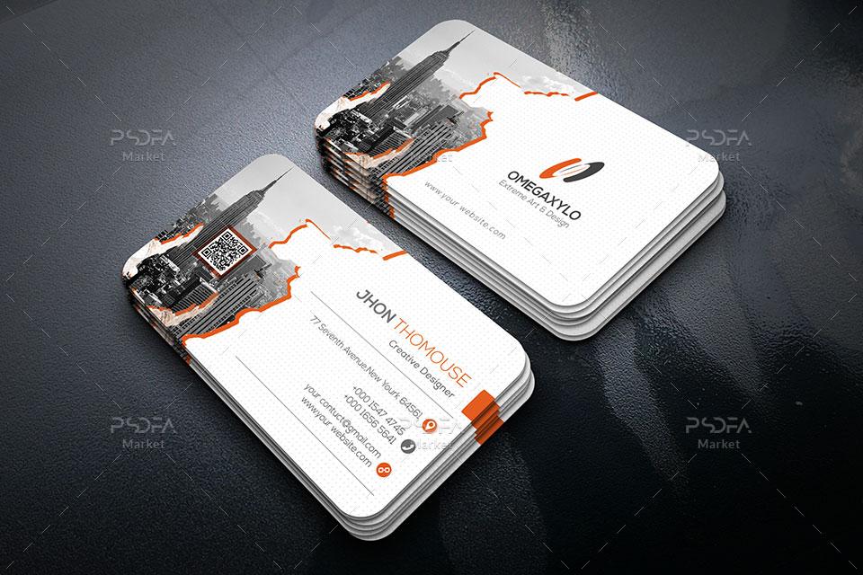 کارت ویزیت و بیزینس کارت شرکتی لایه باز