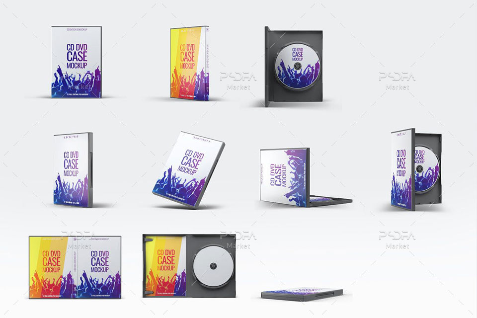 موکاپ قاب و کاور DVD