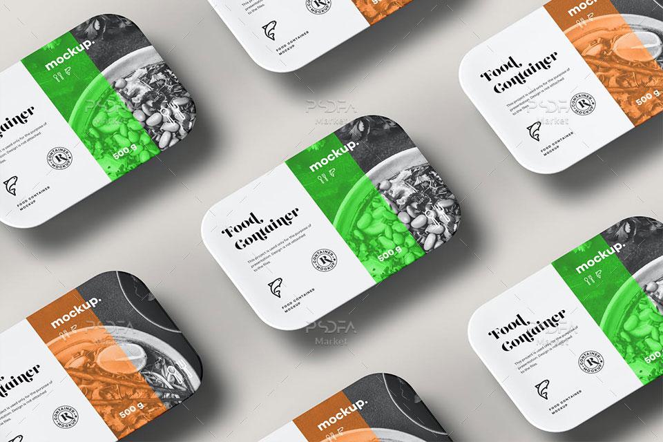 موکاپ ظرف بسته بندی مواد غذایی