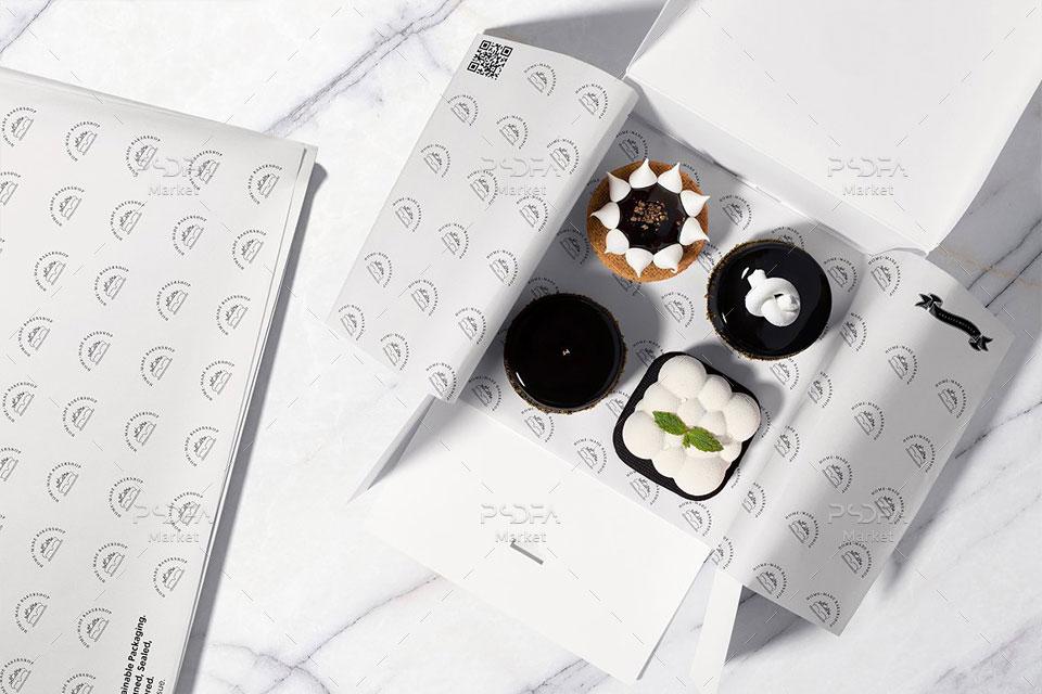 موکاپ کاغذ بسته بندی شیرینی