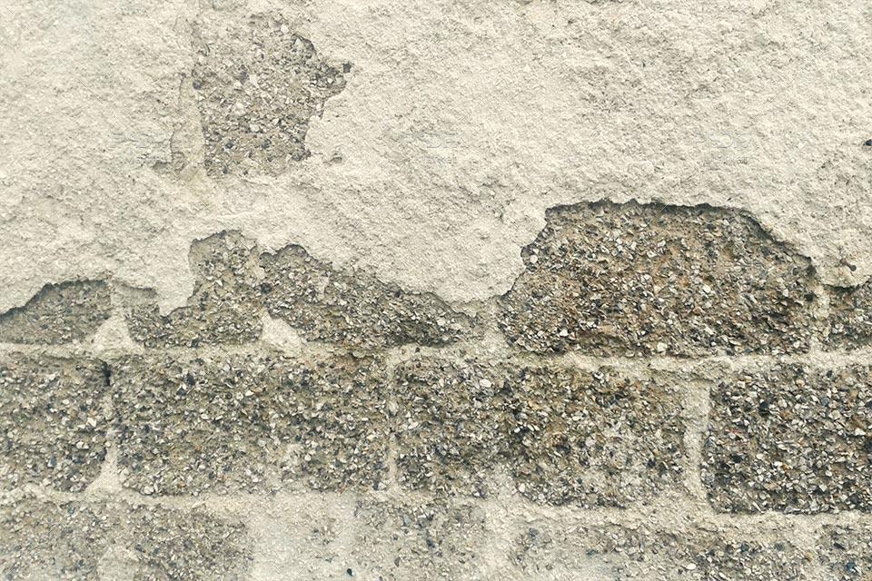 تکسچر دیوار پوسیده و ترک خورده سیمانی