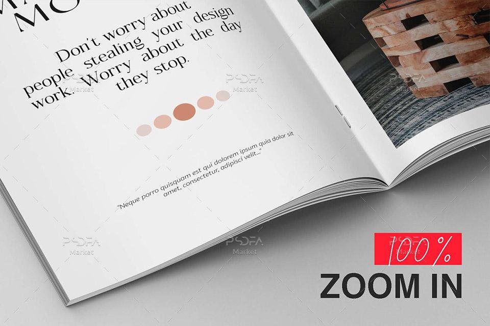 موکاپ مجله و بروشور A4