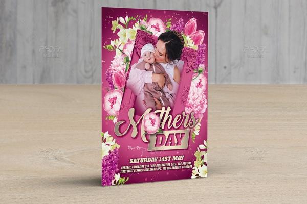 طرح لایه باز تراکت روز مادر و زن PSD