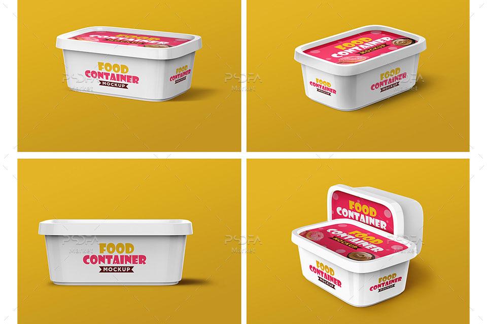موکاپ ظرف پلاستیکی مواد غذایی