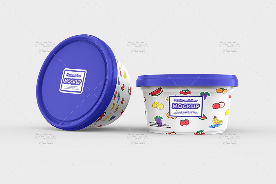 موکاپ ظرف پلاستیکی نگهداری مواد غذایی