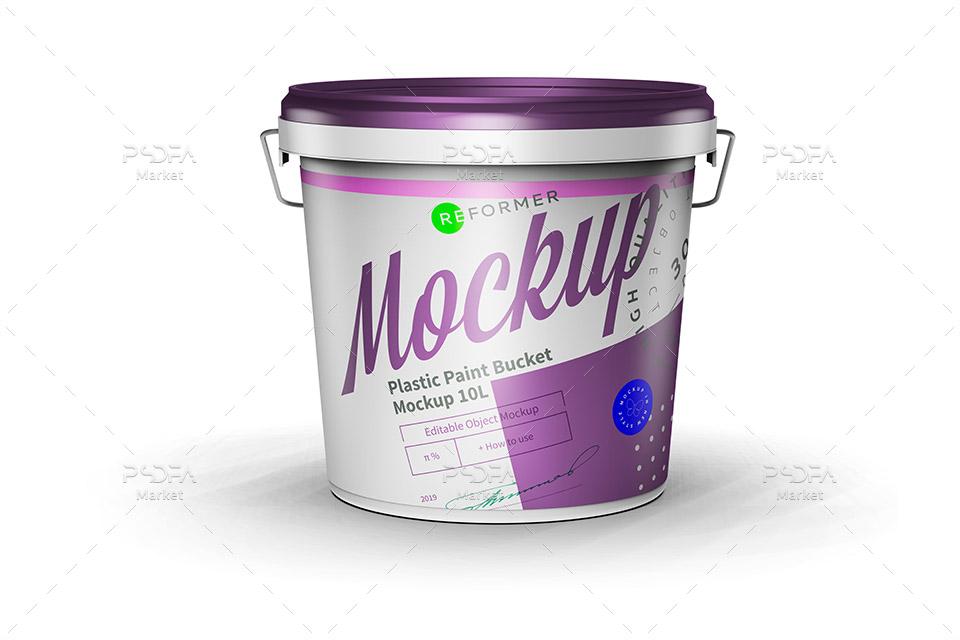 موکاپ سطل رنگ نقاشی 10 لیتری