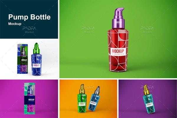 موکاپ بطری اسپری پمپی آرایشی و بهداشتی