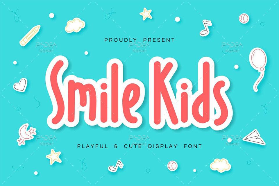 فونت نمایشی کودکانه و بامزه Smile Kids