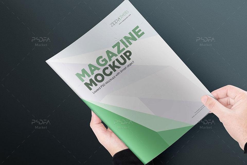 17 موکاپ مجله و بروشور