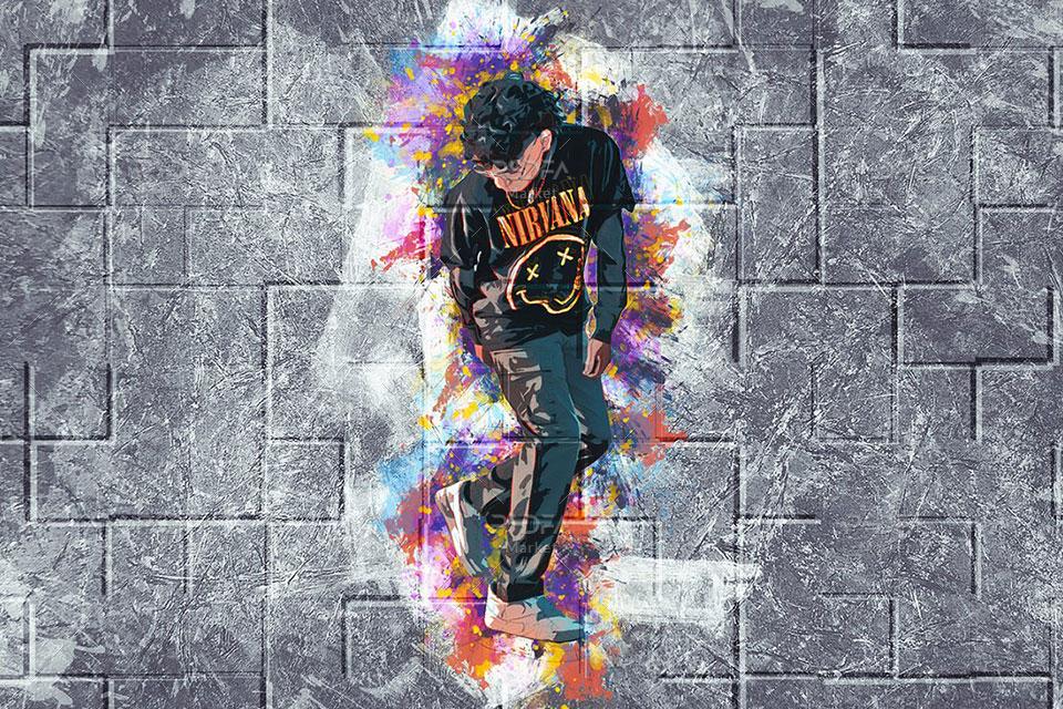 تبدیل عکس به نقاشی روی دیوار