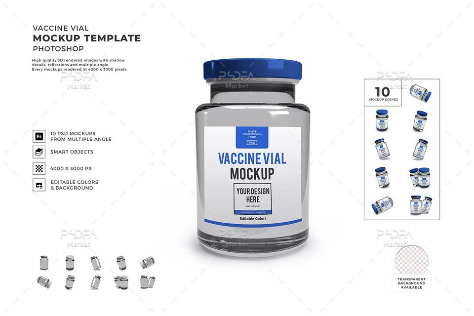 موکاپ ویال واکسن