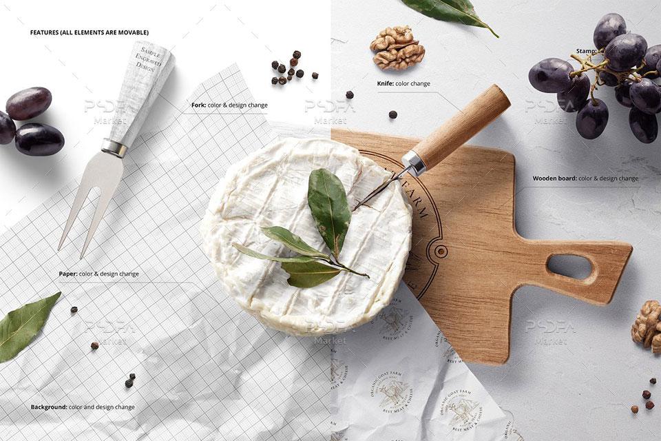 موکاپ کاغذ بسته بندی غذا