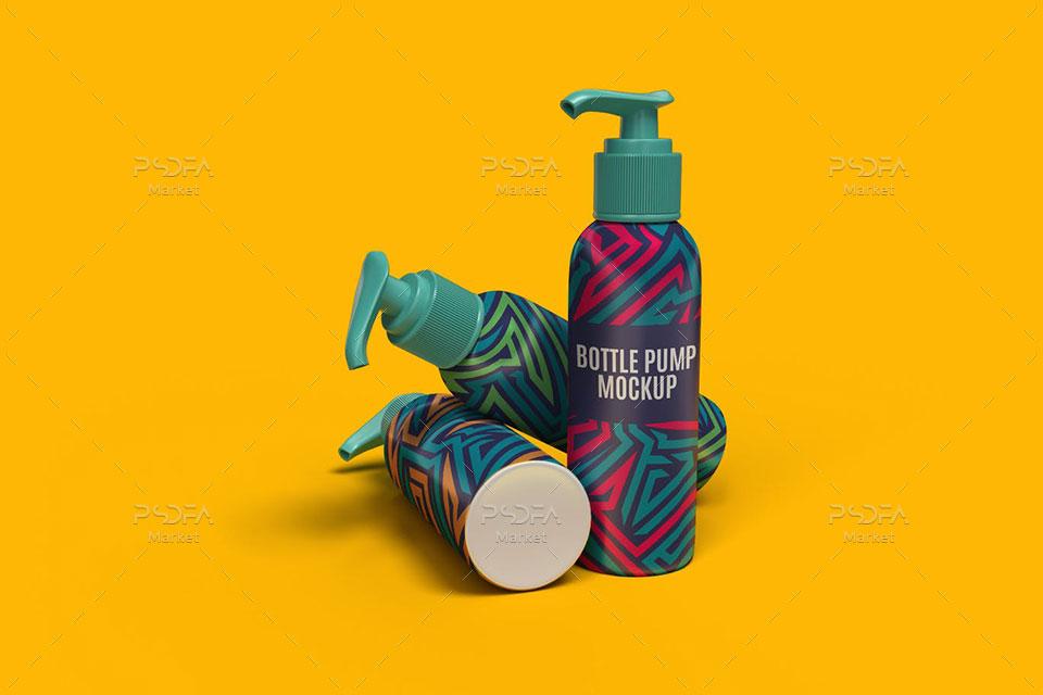 موکاپ بطری پمپی آرایشی و بهداشتی