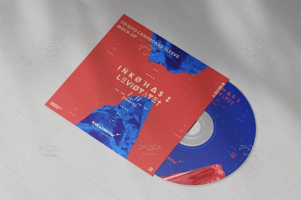 موکاپ کاور کاغذی CD / DVD