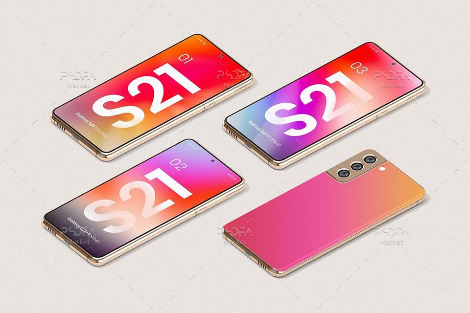 موکاپ اسمارت فون Galaxy S21 سامسونگ