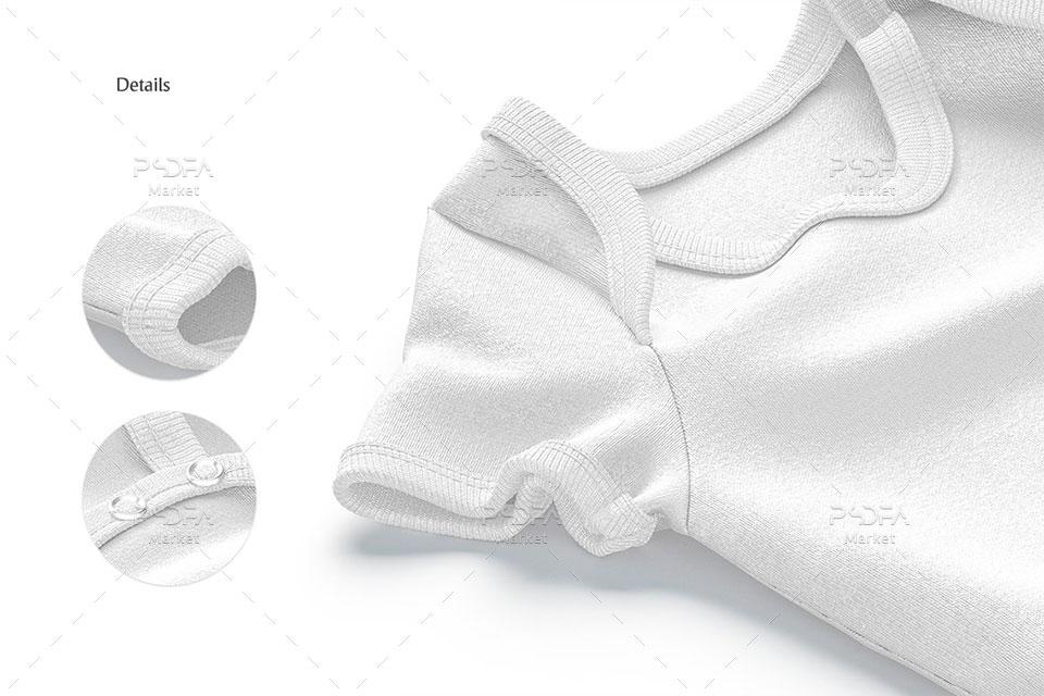 موکاپ لباس سرهمی نوزاد