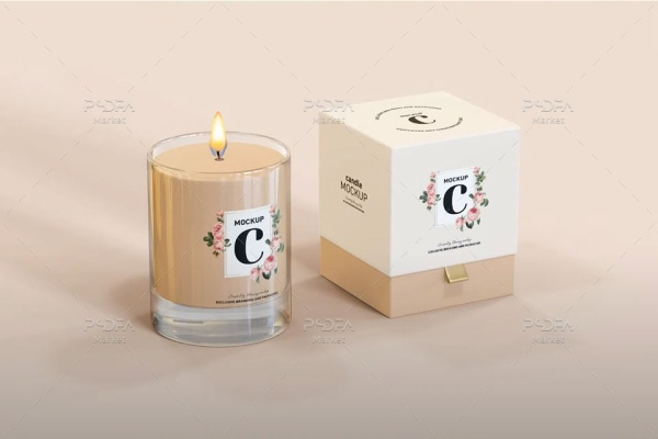 موکاپ بسته بندی شمع