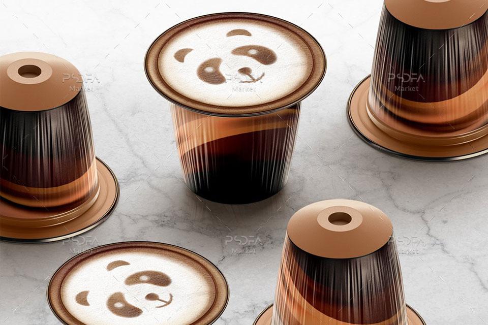 موکاپ کپسول قهوه