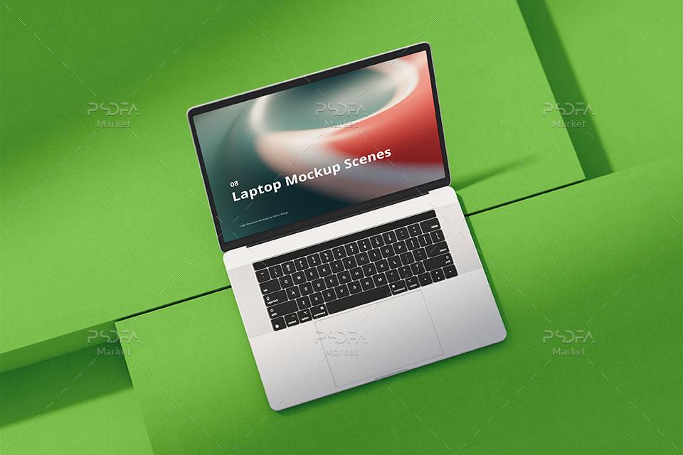 موکاپ لپ تاپ مک بوک اپل