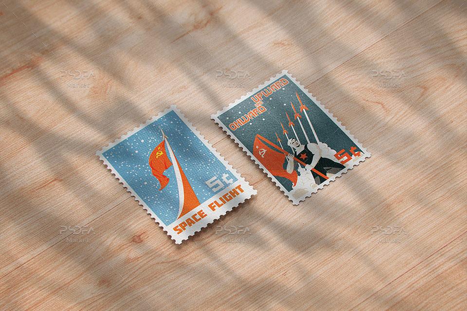 موکاپ تمبر پستی